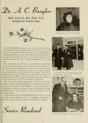 Page 15, 1961 Edition, Elizabethtown College - Conestogan / Etonian Yearbook (Elizabethtown, PA) online yearbook collection