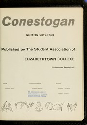 Page 7, 1964 Edition, Elizabethtown College - Conestogan / Etonian Yearbook (Elizabethtown, PA) online yearbook collection