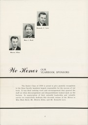 Page 6, 1939 Edition, East Huntingdon High School - Mirror Yearbook (Alverton, PA) online yearbook collection