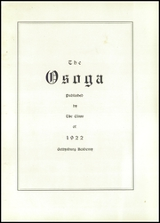 Page 9, 1922 Edition, Gettysburg Academy - Osoga Yearbook (Gettysburg, PA) online yearbook collection