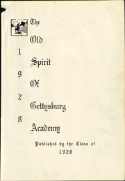 Page 11, 1928 Edition, Gettysburg Academy - Osoga Yearbook (Gettysburg, PA) online yearbook collection