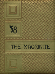 Mount St Macrina Academy - Macrinite Yearbook (Uniontown, PA) online yearbook collection, 1958 Edition, Page 1