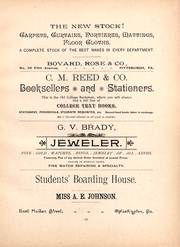 Page 11, 1892 Edition, Washington and Jefferson College - Pandora Yearbook (Washington, PA) online yearbook collection