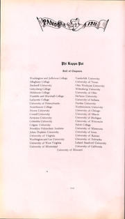 Page 113, 1911 Edition, Washington and Jefferson College - Pandora Yearbook (Washington, PA) online yearbook collection