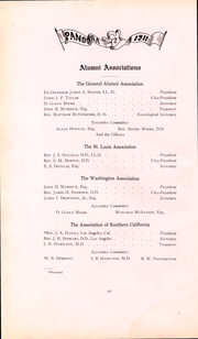 Page 13, 1911 Edition, Washington and Jefferson College - Pandora Yearbook (Washington, PA) online yearbook collection