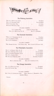 Page 14, 1911 Edition, Washington and Jefferson College - Pandora Yearbook (Washington, PA) online yearbook collection