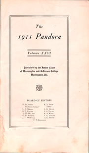Page 2, 1911 Edition, Washington and Jefferson College - Pandora Yearbook (Washington, PA) online yearbook collection