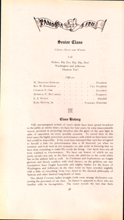 Page 39, 1911 Edition, Washington and Jefferson College - Pandora Yearbook (Washington, PA) online yearbook collection