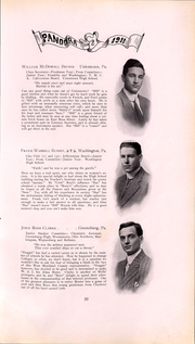 Page 60, 1911 Edition, Washington and Jefferson College - Pandora Yearbook (Washington, PA) online yearbook collection