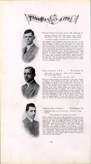Page 61, 1911 Edition, Washington and Jefferson College - Pandora Yearbook (Washington, PA) online yearbook collection