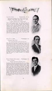 Page 62, 1911 Edition, Washington and Jefferson College - Pandora Yearbook (Washington, PA) online yearbook collection