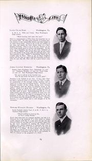 Page 66, 1911 Edition, Washington and Jefferson College - Pandora Yearbook (Washington, PA) online yearbook collection
