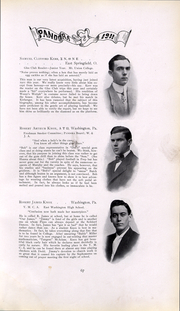 Page 68, 1911 Edition, Washington and Jefferson College - Pandora Yearbook (Washington, PA) online yearbook collection
