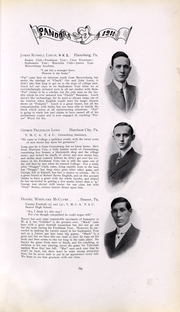 Page 70, 1911 Edition, Washington and Jefferson College - Pandora Yearbook (Washington, PA) online yearbook collection