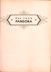 Page 2, 1935 Edition, Washington and Jefferson College - Pandora Yearbook (Washington, PA) online yearbook collection