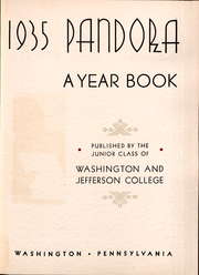 Page 4, 1935 Edition, Washington and Jefferson College - Pandora Yearbook (Washington, PA) online yearbook collection