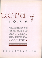 Page 5, 1936 Edition, Washington and Jefferson College - Pandora Yearbook (Washington, PA) online yearbook collection