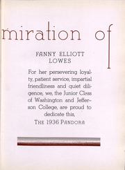 Page 9, 1936 Edition, Washington and Jefferson College - Pandora Yearbook (Washington, PA) online yearbook collection
