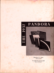 Page 2, 1937 Edition, Washington and Jefferson College - Pandora Yearbook (Washington, PA) online yearbook collection
