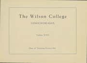 Page 4, 1921 Edition, Wilson College - Conococheague Yearbook (Chambersburg, PA) online yearbook collection