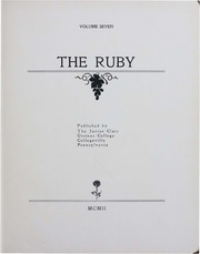 Page 5, 1903 Edition, Ursinus College - Ruby Yearbook (Collegeville, PA) online yearbook collection