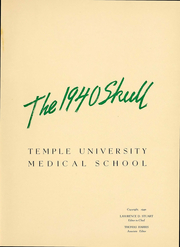 Page 3, 1940 Edition, Temple University School of Medicine - Skull Yearbook (Philadelphia, PA) online yearbook collection