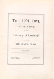 Page 9, 1921 Edition, University of Pittsburgh - Owl Yearbook (Pittsburgh, PA) online yearbook collection