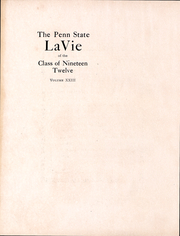Page 3, 1912 Edition, Penn State University - La Vie Yearbook (University Park, PA) online yearbook collection