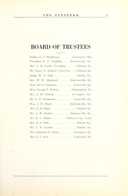 Page 13, 1925 Edition, Union College - Stespean Yearbook (Barbourville, KY) online yearbook collection
