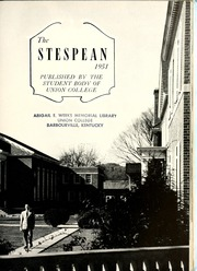 Page 7, 1951 Edition, Union College - Stespean Yearbook (Barbourville, KY) online yearbook collection