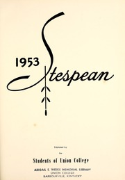 Page 5, 1953 Edition, Union College - Stespean Yearbook (Barbourville, KY) online yearbook collection