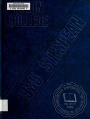 1985 Edition, Union College - Stespean Yearbook (Barbourville, KY)