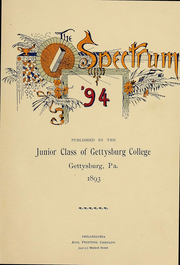 Page 3, 1894 Edition, Gettysburg College - Spectrum Yearbook (Gettysburg, PA) online yearbook collection