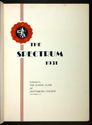 Page 9, 1931 Edition, Gettysburg College - Spectrum Yearbook (Gettysburg, PA) online yearbook collection