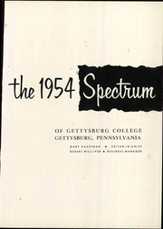Page 7, 1954 Edition, Gettysburg College - Spectrum Yearbook (Gettysburg, PA) online yearbook collection