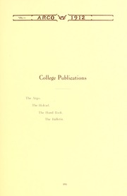 Page 109, 1912 Edition, Westminster College - Argo Yearbook (New Wilmington, PA) online yearbook collection