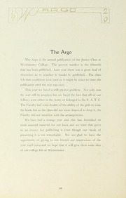 Page 16, 1920 Edition, Westminster College - Argo Yearbook (New Wilmington, PA) online yearbook collection