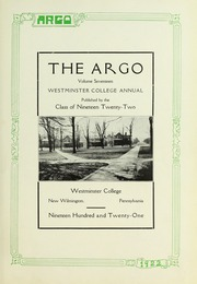 Page 7, 1922 Edition, Westminster College - Argo Yearbook (New Wilmington, PA) online yearbook collection