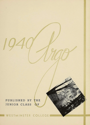 Page 5, 1939 Edition, Westminster College - Argo Yearbook (New Wilmington, PA) online yearbook collection