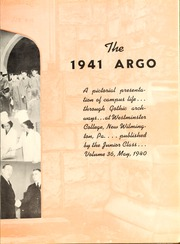 Page 7, 1941 Edition, Westminster College - Argo Yearbook (New Wilmington, PA) online yearbook collection