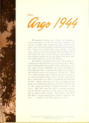 Page 7, 1944 Edition, Westminster College - Argo Yearbook (New Wilmington, PA) online yearbook collection