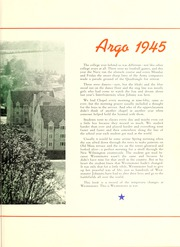 Page 7, 1945 Edition, Westminster College - Argo Yearbook (New Wilmington, PA) online yearbook collection