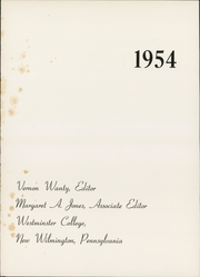 Page 4, 1954 Edition, Westminster College - Argo Yearbook (New Wilmington, PA) online yearbook collection