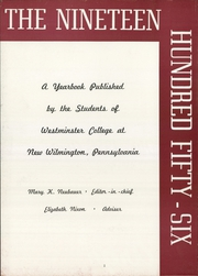 Page 6, 1956 Edition, Westminster College - Argo Yearbook (New Wilmington, PA) online yearbook collection