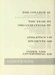 Page 14, 1963 Edition, Westminster College - Argo Yearbook (New Wilmington, PA) online yearbook collection