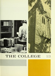 Page 17, 1963 Edition, Westminster College - Argo Yearbook (New Wilmington, PA) online yearbook collection