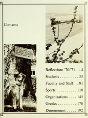 Page 7, 1971 Edition, Westminster College - Argo Yearbook (New Wilmington, PA) online yearbook collection