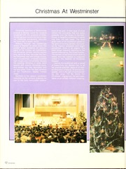 Page 16, 1986 Edition, Westminster College - Argo Yearbook (New Wilmington, PA) online yearbook collection