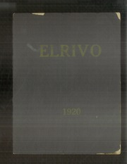 Page 1, 1920 Edition, Elders Ridge Vocational School - Elrivo Yearbook (Elders Ridge, PA) online yearbook collection