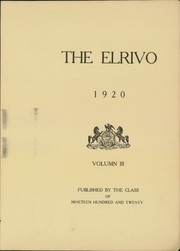 Page 7, 1920 Edition, Elders Ridge Vocational School - Elrivo Yearbook (Elders Ridge, PA) online yearbook collection
